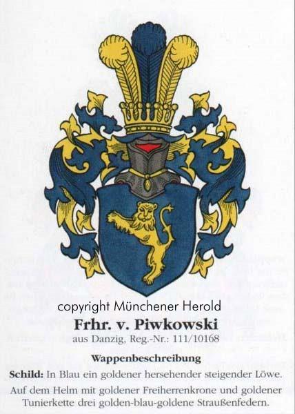 Wappenbeschreibung Kosemczyk mit der Freiherrenkrone